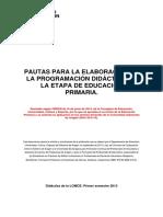 Pautas Elaboración Programación Didáctica Etapa Primaria