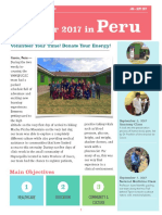 9-21 Summer 2017 Peru Newsletter