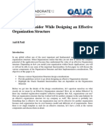 White Paper Things to Consider While Designing an Effective Organization Structure
