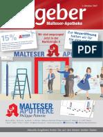 Ratgeber aus Ihrer Malteser-Apotheke – Oktober 2017