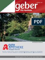 Ratgeber aus Ihrer City-Apotheke – Oktober 2017