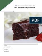 Torta Al Cioccolato Fondente Con Glassa