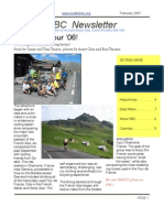 February 2007 SBC Newsletter, Cyclists of Greater Seattle