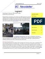 March 2007 SBC Newsletter, Cyclists of Greater Seattle