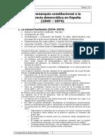 Tema 19 de La Monarquía Constitucional a La Experiencia Democrática en España