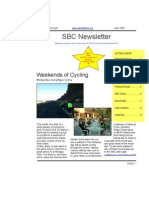 April 2007 SBC Newsletter, Cyclists of Greater Seattle