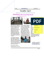 August 2007 Seattle Spin Newsletter, Cyclists of Greater Seattle