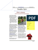November 2007 Seattle Spin Newsletter, Cyclists of Greater Seattle