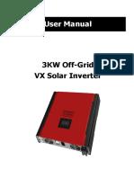 Manual 3kW Off Grid VX Solar Inverter 120702