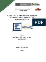 Bases Del Concurso de Teatro Festepy 2017
