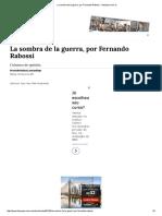 La Sombra de La Guerra, Por Fernando Rabossi - Tiempoar.com