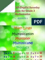 2017 MTAP-DepEd Saturday Program for Grade 3 Mathematics Session 3