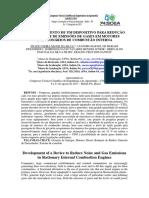 Desenvolvimento de Um Dispositivo Para Redução de Ruídos e de Emissões de Gases Em Motores Estacionários de Combustão Interna