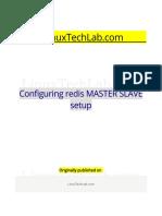 Configuring Redis MASTER SLAVE Setup