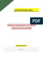 How to Install GIT on Linux (Ubuntu & CentOS)