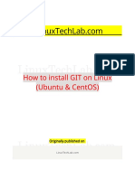 How to Install GIT on Linux (Ubuntu & CentOS) | Operating System