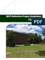 reflective project ibcp guidelines update class of 2018