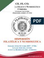 Dispersión Filatélica y Numismática 2017