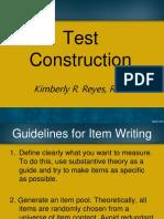 5 - Test Construction (1)