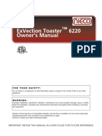 ExVection 6220 Toaster Manual