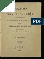 1887 Judaismo y Francmasoneria