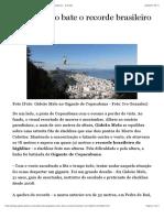 Gideão Melo bate o recorde brasileiro de highline | Radicais - O Globo