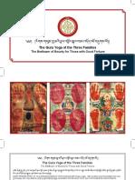 The Guru Yoga of the Three Families Print