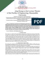 Artificial Lighting Design Journal