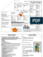 Informational Calendar October 2017