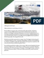 August Parent Newsletter for Blog