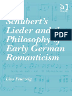 Lisa Feurzeig Schuberts Lieder and the Philosophy of Early German Romanticism