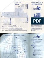 Tourist map of Valladolid Mexico