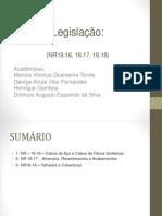 Legislação Slide NR 18.16 18.17 18.18