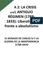t2. Parte 1 Crisis Del Antiguo Régimen (1788-1833)