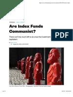 Are Index Funds Communist?