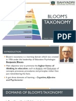Blooms Taxonomy ECE