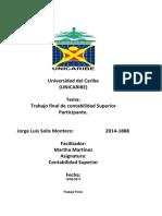 Trabajo Final, Contabilidad Superior, Jorge Luis.
