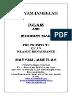 Maryam Jameelah Islam and Modern Man