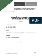57245540 Guia Tecnica de Relleno Sanitario Manual