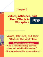 OB 3 Values, Attitudes, And Their Effects in the Workplace
