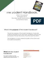 the student handbook
