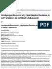 Secretaría de Extensión y Relaciones Internacionales - Inteligencia Emocional y Habilidades Sociales en La Promoción de La Salud y Educación - 2016-08-08 (1)