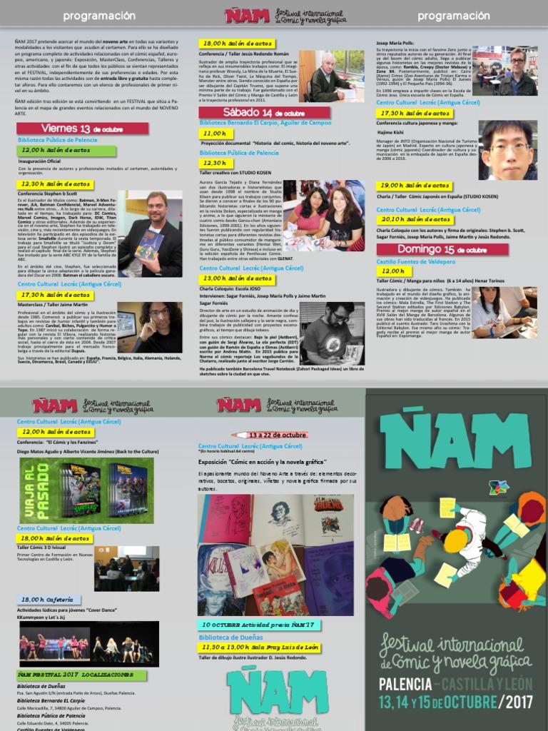 ñam 2017 Festival Internacional Del Cómic Y Novela Gráfica