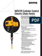 Harrington NER Cylinder Control Electric Chain Hoist Sell Sheet - Rev 0