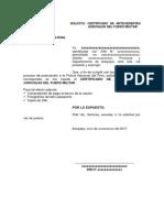 Solicito Certificado de Antecedentes Judiciales Del Fuero Militar
