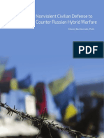 Nonviolent Civilian Defense to Counter Russian Hybrid Warfare by Maciej Bartkowski, Ph.D.