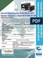Brochure Regulador RN TRI 6000 5P 220 + TVSS