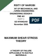 Maximum Shear Stress Theory-Derivation