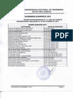 Calendario Academico 2017