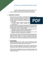 Producción de Agua Potable de La Universidad Nacional de Piura